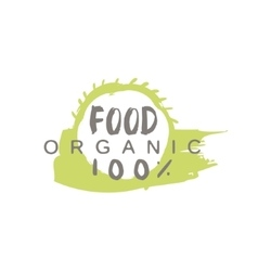 Orgnic Food Label Design vector