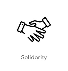 Outline solidarity icon isolated black simple vector