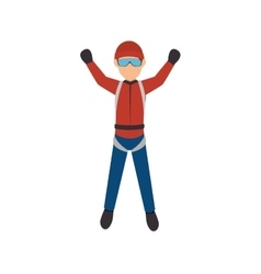 Parachute Extreme sport athlete avatar vector