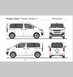 Peugeot expert traveller compact l1 2016-present vector