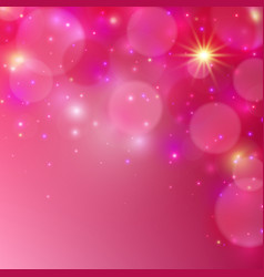 Pink shining background abstract vector