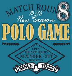 polo club design set vector image