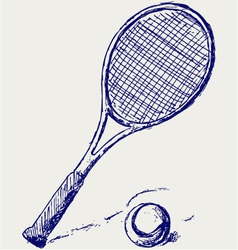 Racket vector image