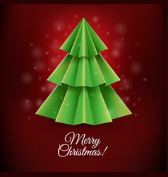 Red christmas postcard vector