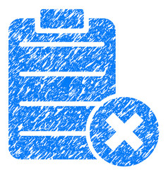 Reject form grunge icon vector
