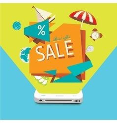 Sales of goods through the mobile device vector