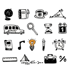School and educational icons vector