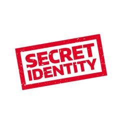 Secret identity rubber stamp vector