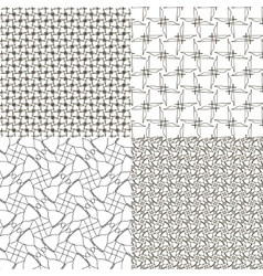 Set abstract vintage geometric wallpaper pattern vector image