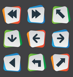 set of 9 simple pointer icons can be found such vector image