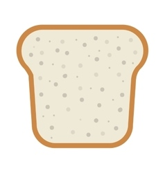 Slice of loaf vector
