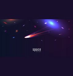 space landscape with colorful shiny stars and vector image