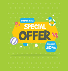 summer sale banner birthday party vector image