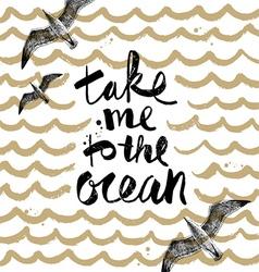 Take me to ocean vector