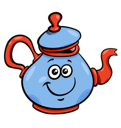 teapot or kettle cartoon character vector image