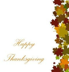 Thanksgiving background with floral vector image