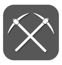 The pick icon Pickax symbol Flat vector image