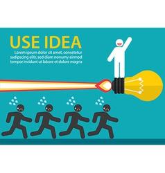Use creative idea vector