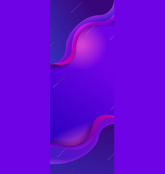 vertical banner blue purple pink wave gradient vector image