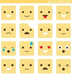 Waffle emoticons vector image