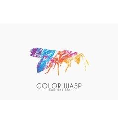 Wasp logo design color design creative logo vector
