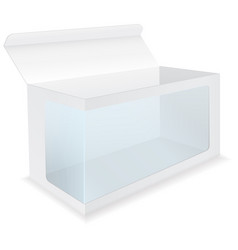 White box with transparent display window vector