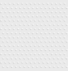 white seamless texture with hearts vector image