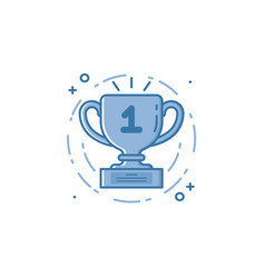 cinema of award cup icon in vector image