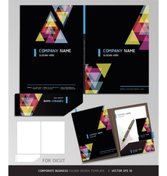 Corporate Identity business set folder design vector image