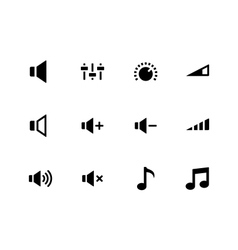 Speaker icons on white background Volume control vector image vector image