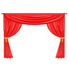 theater stage drape curtain vector image