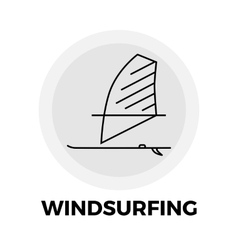 Windsurfing Line Icon vector image