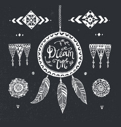 hand drawn tribal patterns with stroke vector image vector image