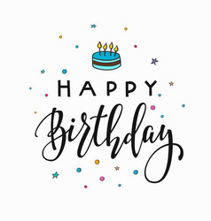 Happy birthday party lettering typography vector