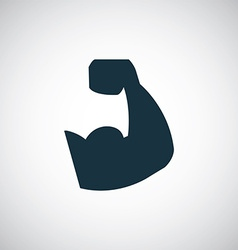 muscle arm icon vector image