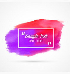 Abstract watercolor grunge stain background with vector