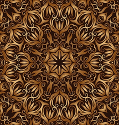 Golden vintage seamless pattern vector image