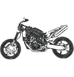 One color abstract motocross vector