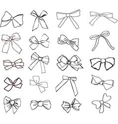 ribbons hand drawn vector image vector image