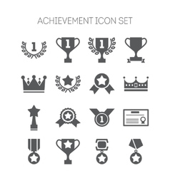 Set of simple achievement icons for web design vector image