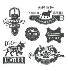Set of vintage belt logo designs retro vector image