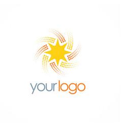 star spin bright logo vector image