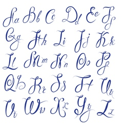 ABC - English alphabet - Handwritten calligraphic vector image vector image