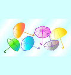 colorful umbrellas in the sky vector image vector image
