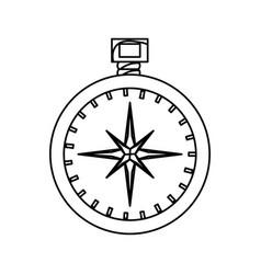 compass travel navigation vector image