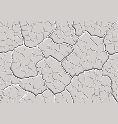cracked plaster seamless pattern vector image