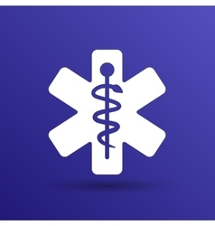 Medical icons silhouette vector image