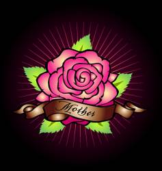 mothers rose vector image vector image