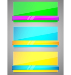 neon banners vector image vector image