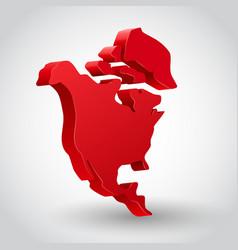 north america continent vector image